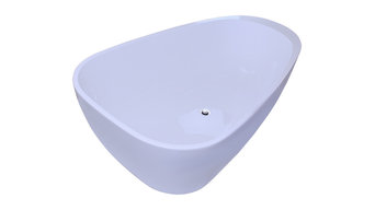 GV Bathroom White Color FreeStanding Acrylic Bathtub