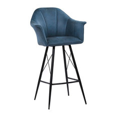 Moeu0027s Home Collection   Olivier Blue Stool, Bar Height   Bar Stools And  Counter Stools