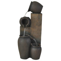 """Jugs Fountain With Light, 23.5"""""""
