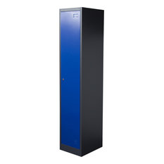 1-Door Metal Storage Locker Cabinet With Key Lock Entry