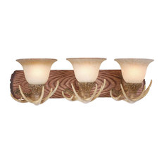 rustic bathroom vanity lights. Vaxcel - Lodge 3-Light Vanity Bathroom Lighting Rustic Lights