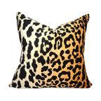 Braemore Jamil Velvet Cheetah Print Pillow 18x18