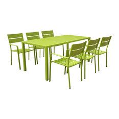 Miami 7-Piece Dining Set, Green