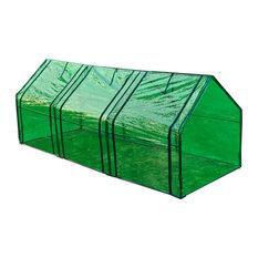 vidaXL Green House 3-Door