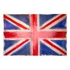 "Filippo Ioco ""British Flag"", 24""x18"" Edition on Canvas"