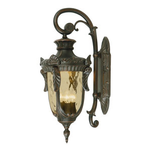 Large Outdoor Wall Lantern, Old Bronze