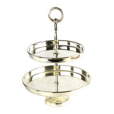 Royal Family - Royal Family Double Dessert Tray - Dessert And Cake Stands