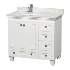 Wyndham Collection Bathroom Vanity, White