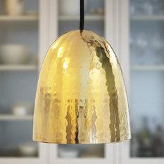 - Stanley Hammered Brass Pendant - Pendant Lighting