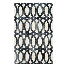 Safavieh Dip Dye DDY675D Rug, Ivory/Graphite, 10'x14' Rectangle