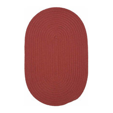 Colonial Mills, Inc - 12 Ft. X 15 Ft. Oval Rug ,Terracotta Textured Braided   by Super Area Rugs - Outdoor Rugs