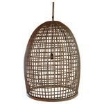 BRINDOMBRE - Basket Pendant Lampshade, Beehive - Using natural rattan to create a criss-cross design, the beehive shaped Basket Pendant Lampshade introduces a tropical flavour to a lounge or dining room. Made by hand, the simple design casts a soft pattern of light and dark that creates a relaxed atmosphere and works well with modern and traditional decors. Specialists in exotic furniture and lighting fixtures, French design company Brin d'Ombre combines the beauty of natural materials with skilled craftsmanship to create a corner of paradise in the home and garden.