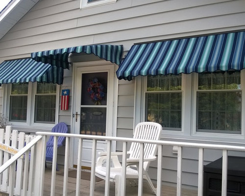 Beach Bungalow Curb Appeal Makeover By Shade One Awnings