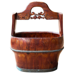 Decorative Wooden Wash Tub Ornament