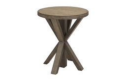 Home Fare Light Oak Plank Top End Table