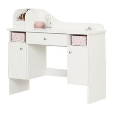 South Shore Vito Kids Vanity Desk in Pure White