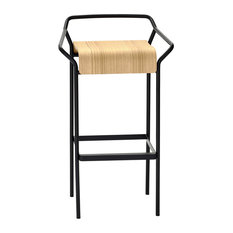 Dao Bar Stool, Black and Natural