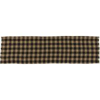 Burlap Black Check Table Runner, 13 x 36