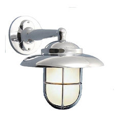Nautical Outdoor Wall Sconce (Solid Brass / Indoor / 10+ Finishes), Polished Chr
