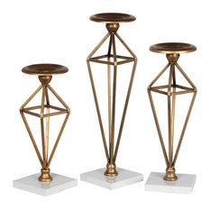 Sandberg Candleholders, Brass