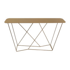 Phileas Steel Console Table, Amber
