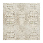 White And Gray Alligator Faux Leather Vinyl By The Yard