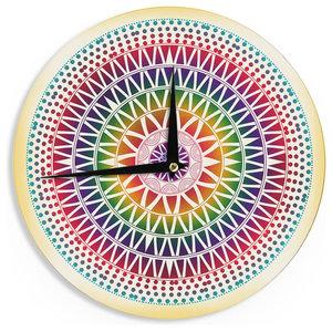 "Famenxt ""Colorful Vibrant Mandala"" Wall Clock 12x12"