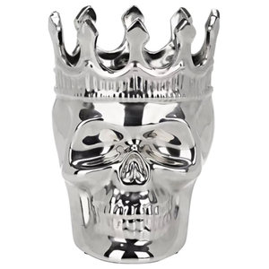 Silver Maximilien Scented Skull Candle