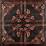 """Decorative Ceiling Tiles - 20""""x20"""" Ivy Leaves, Styrofoam Ceiling Tile, Black Copper - Goes Over Popcorn And Most Ceiling Surfaces, Styrofoam (polystyrene), 20x20 (2.7 sqft), Adds Insulation, Easy Install, Light Weight, No Expensive Tools Needed, Paintable With Any Water-Based Paint, Vine Pattern"""