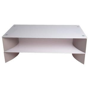 Rectangular Shelf Coffee Table, Gray