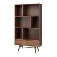 Baas Walnut Wood Bookcase Shelving