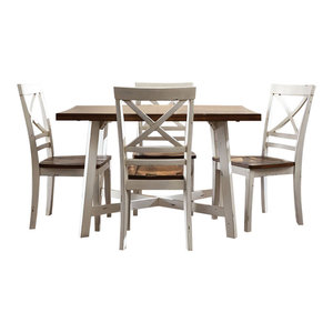 01a3e9d52a6d Fairhaven Counter Height Table and Four Chairs Set, Gray - Farmhouse ...