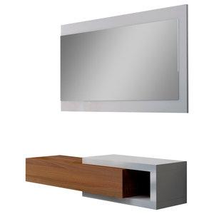 Noon Decorative Shelf With Mirror