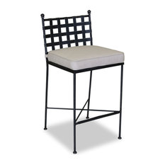 Sunset West Outdoor Furniture   Provence Barstool With Cushions, Canvas  Flax   Bar Stools And