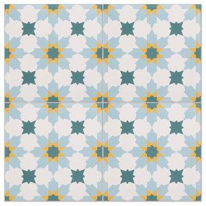 Tangier Pattern Tiles, Set of 12