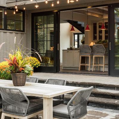 Inspiration for a farmhouse home design remodel in Minneapolis