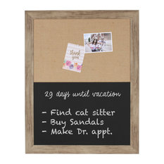 Beatrice Rustic Brown Framed Combination Wall Organization Board
