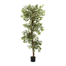 Roman Variegated Ficus Artificial Tree