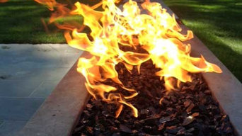 Fire Pit with CROSSFIRE™ Brass Burner