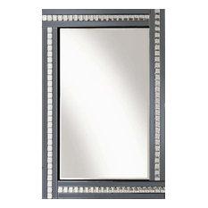 Smoke Crystal Triple Bar Wall Mirror, 80x60 cm