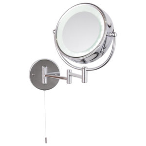 Toscana LED Round 2x Magnifying Mirror, Chrome