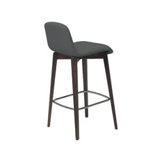 Milo Modern Stool Walnut & Anthracite