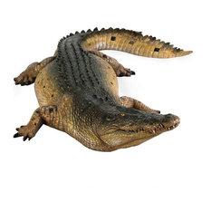 Tropical Alligator Crocodile Home Garden Statue Sculpture