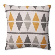 """Pillow Perfect Inc - Ikat Argyle Birch 16.5"""" Throw Pillow - Decorative Pillows"""