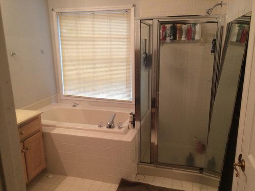 One big shower or shower + standalone tub?