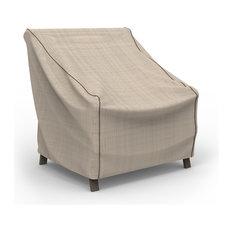 "Budge English Garden Tan Tweed Medium Outdoor Chair Cover, 36""x36""x36"""