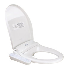 Transolid TE400 Electronic Low Profile Elongated Bidet Seat With Dryer, White
