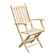 Jakarta Folding Arm Chair, Grade A Teak