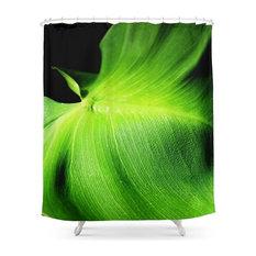 Society6 Leaf Anatomy Shower Curtain