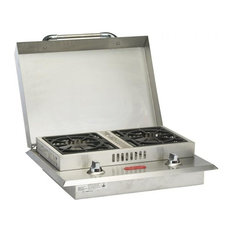 Double Side Burner NG, Stainless Steel